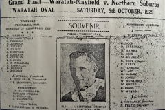 Waratah-Mayfield vs Northern Suburbs Grand Final 1929.