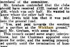Angry scenes at Meeting 1934.