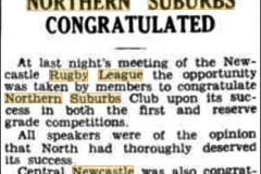 Northern Suburbs congratulated 1935.