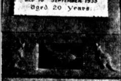 George Huff Headstone 1934.