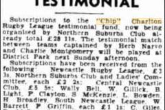 Chip Charlton Testimonial 1945.