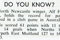 Alf Fairhall Point scoring record in Australia 1940.