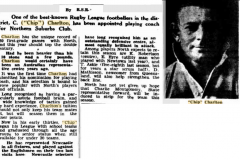 Chip Charlton appointed Capt/Coach 1945.
