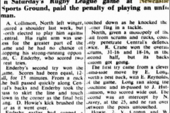 Northern Suburbs defeat Central Newcastle 1951.
