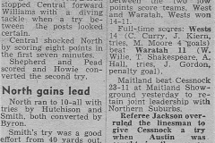 Northern Suburbs defeat Central 29th July 1951