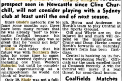 Slade to stay with North 1951.