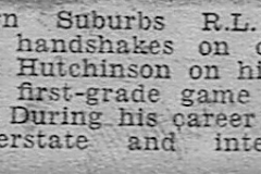Jack Hutchinson's 100th game 13th August 1950.