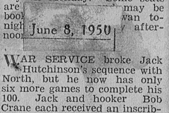 Jack Hutchinson 8th of June 1950.