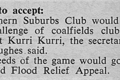 Norths vs Kurri - Maitland Floods Appeal 1950.