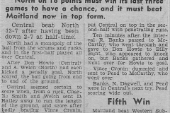 Northern Suburbs may miss Semis 1950