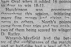 Northern Suburbs defeat Waratah Mayfield 1950.