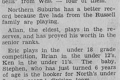 The Russell's - 9th June 1963
