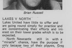 Lakes United vs North Newcastle 1977.