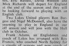Russell's keen for England 27th August 1972.