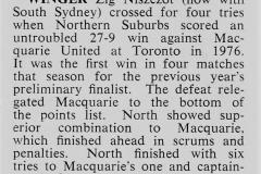 Ziggy Nisczcot scores 4 trys against Macquarie 1976..