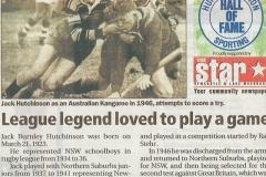 Jack Hutchinson - Star Newspaper 2010