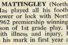 Bill Mattingley appointed Coach for 1968.