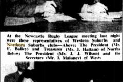Northern Suburbs Officials Frank Bailey,Jim Hattam 1953