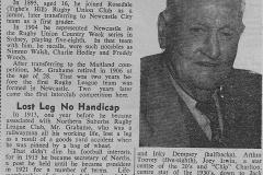 Jack Grahame - 11th July 1958