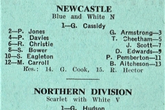 Newcastle Vs North Division Under 18's - sat 14th april 1973 - No 1 sports