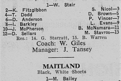 Newcastle vs Coalfields Under 14's 1975.