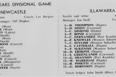 Newcastle vs Illawarra Under 18's 16th April 1983.