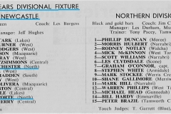 Newcastle vs Northern Division Under 18's 1981.