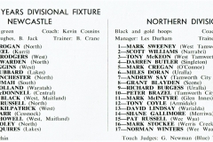 Newcastle vs Northern Divsion,Under 18's - 1983