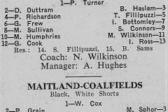 Newcastle vs Coalfields Under 18's April 1973.