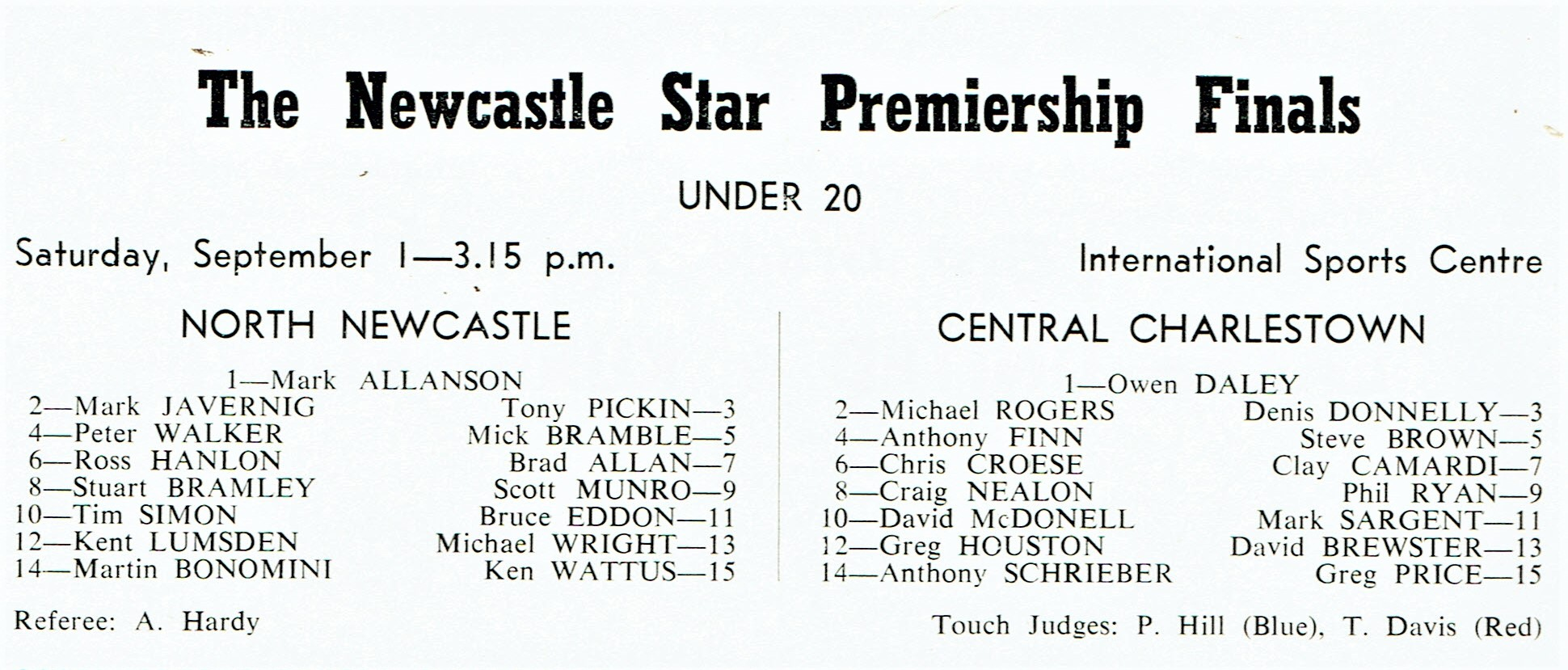 Under 20's Final 1984