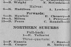 Western Suburbs vs Northern Suburbs Under 14's 1960.
