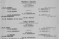 Norths vs Lakes Under 18's 1957.