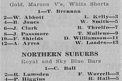 Waratah Mayfield vs Northern Suburbs Under 20's 1961.
