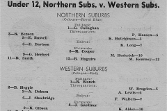 Norths vs Wests Under 12's 1958.
