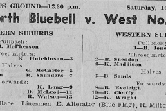Norths Bluebell 16th May 1959.