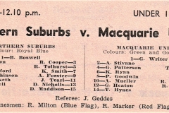 Norths vs Macquarie Under 18's 1964.