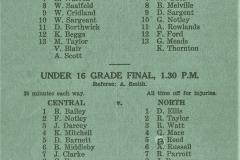 Under 16s Grand Final, Central vs Norths 1957.