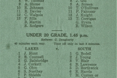 Western Suburbs vs North Presidents Cup 1957