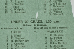 West vs North Under 20s 1957.
