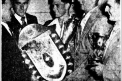Trophies presented to F.Wivell and J.Webber 1951