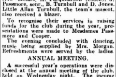 Annual club meeting 24th December 1934.