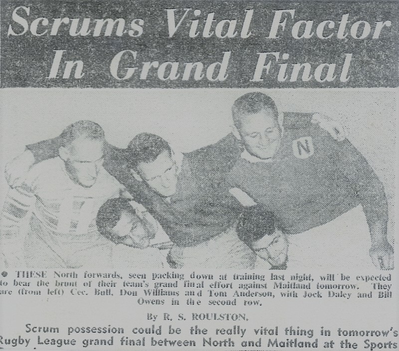 Scrums vital factor in 1962 Grand Final.