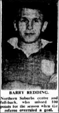 Barry Redding Newcastle Herald Monday 17th Augsut 1953