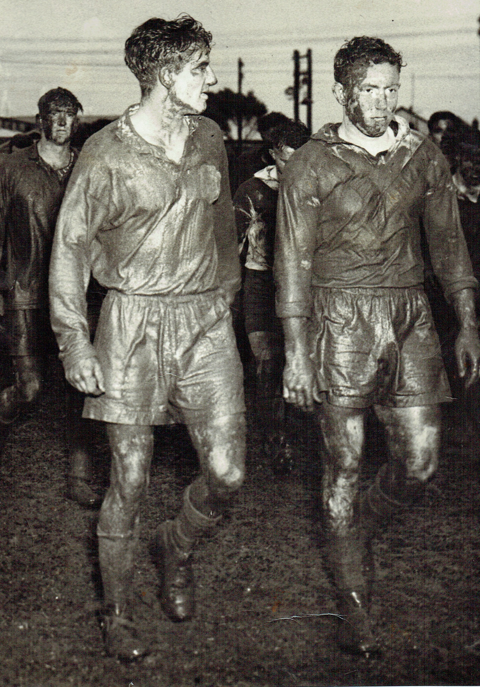 Charlie Smith and unknown Cessnock player 1953.