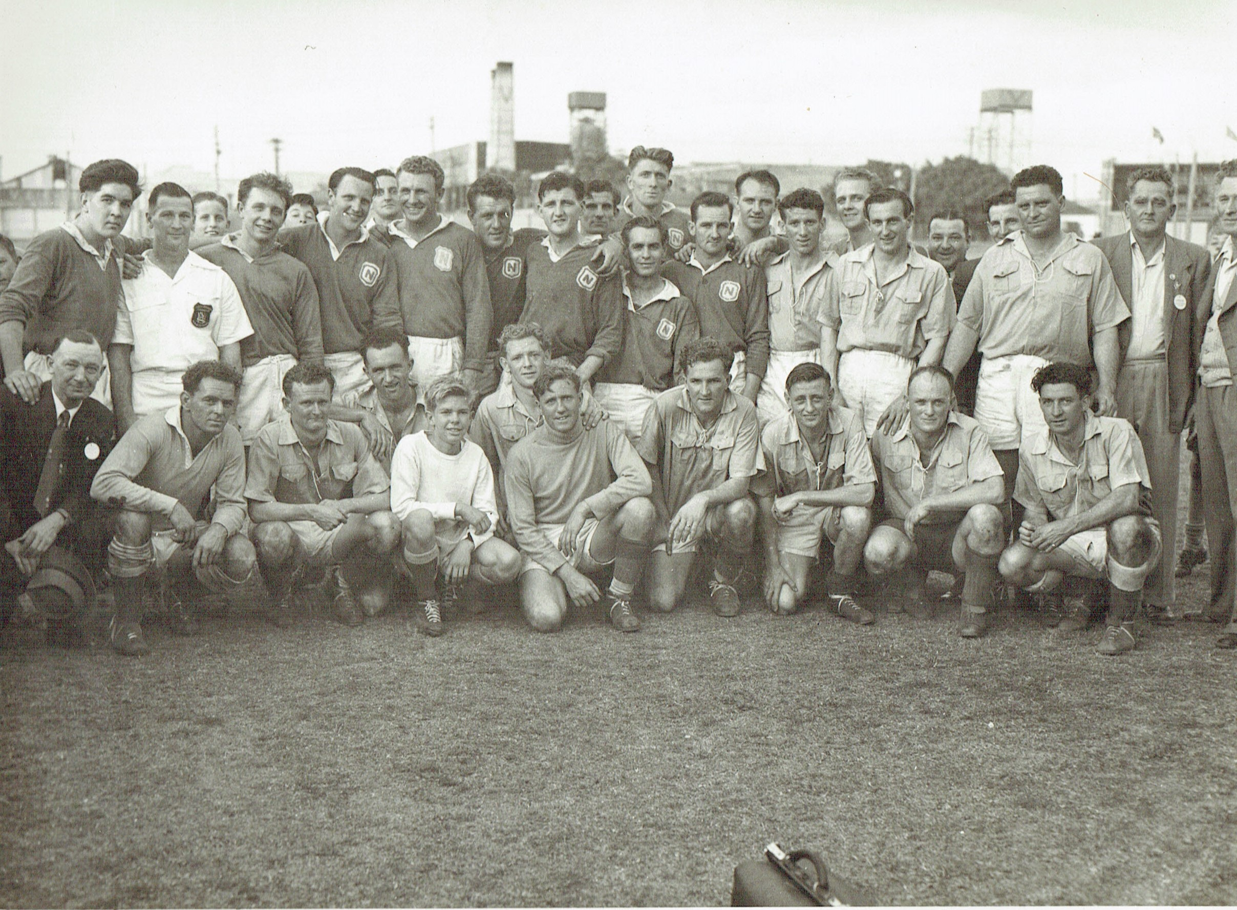 Charity soccer match 20th september 1953.