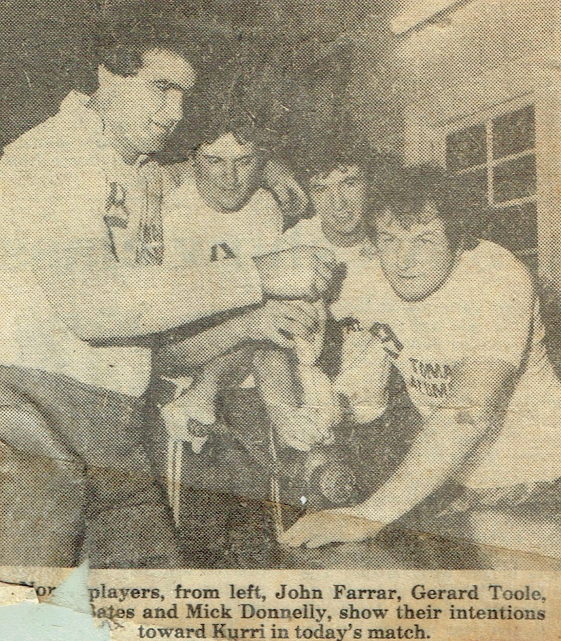 John Farrar,Gerard Toole,Mark Bates and Mick Donnelly 1983