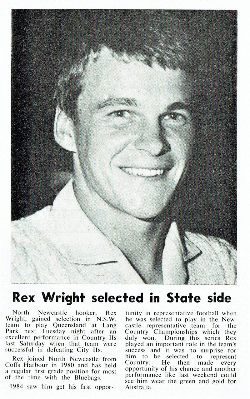 Rex Wright 1984.