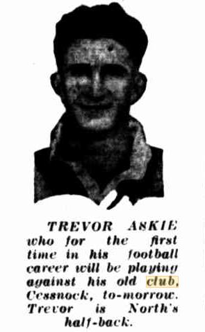 Trevor Askie 1943.