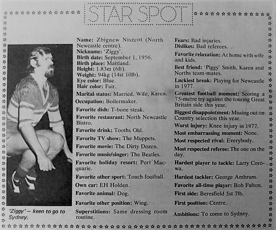 Ziggy Niszczot Star Spot 1979.