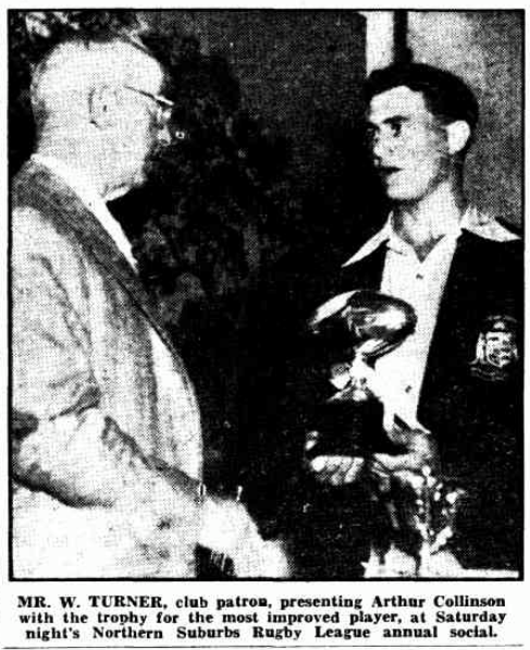 Arthur Collinson 1949.